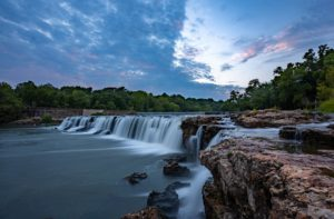 Photo of a waterfall in the Ozarks of Southwest Missouri