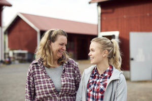 Mom and single daughter talking about daughter's future