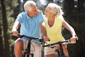 An elder couple thinking about retirement