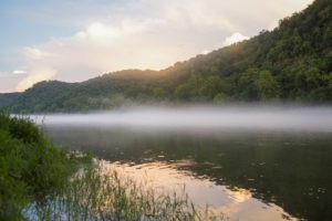 A misty morning in the Ozarks