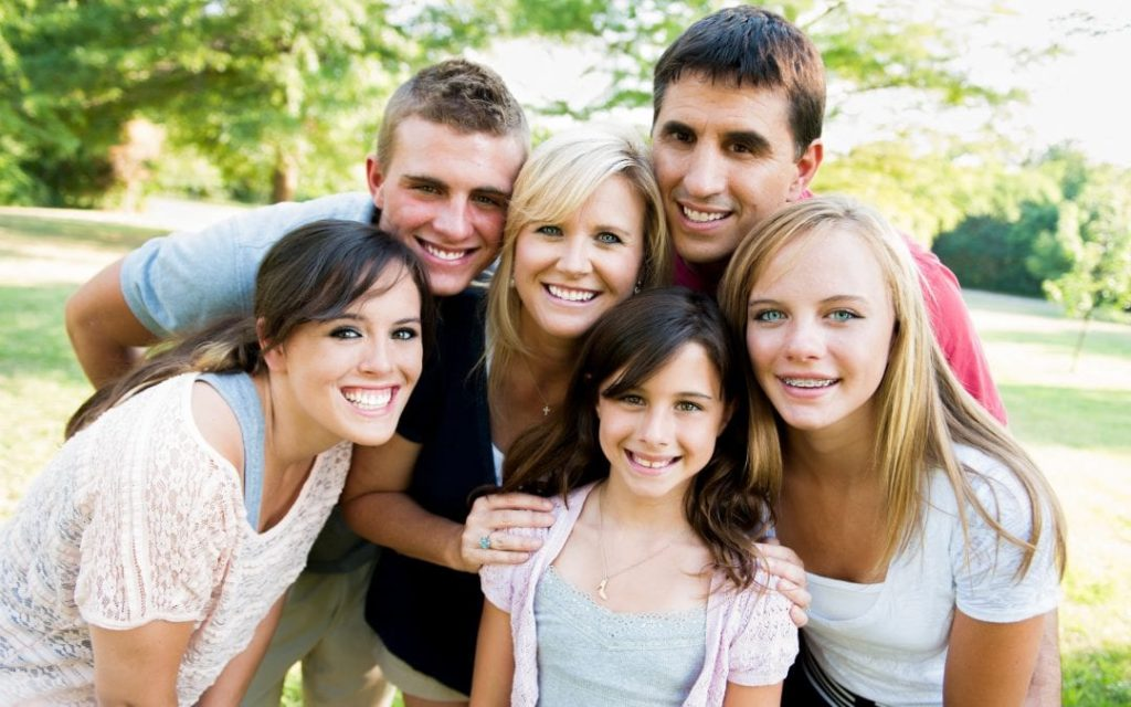 Blended family with kids